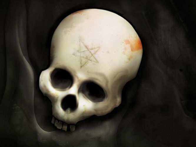 skull skulls dark gothic occult satanic witch penta evil wallpaper