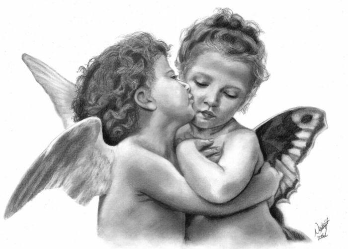 Angels Fantasy angel baby child children mood love wallpaper