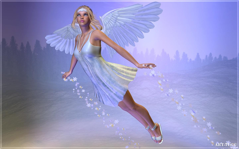 Angels Wallpapers For Desktop 3d: Angels 3D Graphics Fantasy Girls Angel Fairy Wallpaper