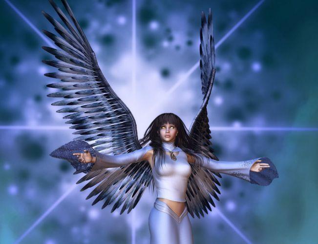 Angels 3D Graphics Fantasy Girls gothic angel dark demon demons wallpaper