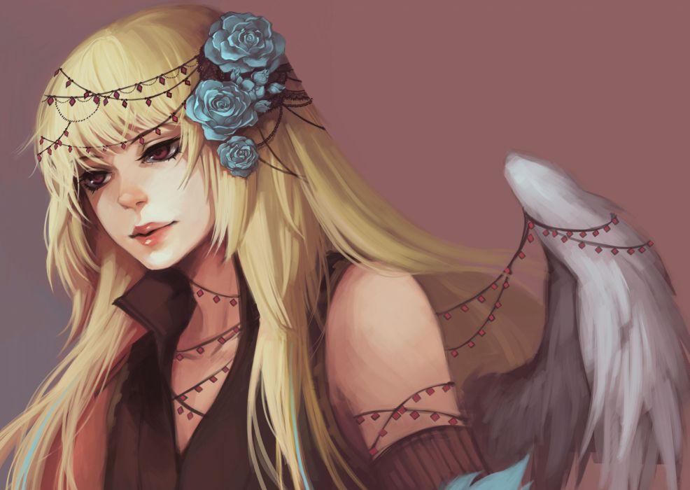 Angels Wings Fantasy Girls angel gothic wallpaper