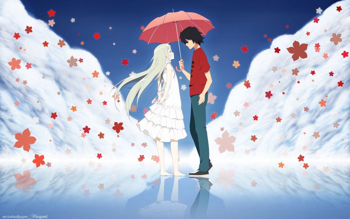 Ano Hi Mita Hana no Namae o Bokutachi wa Mada Shiranai umbrella mood wallpaper