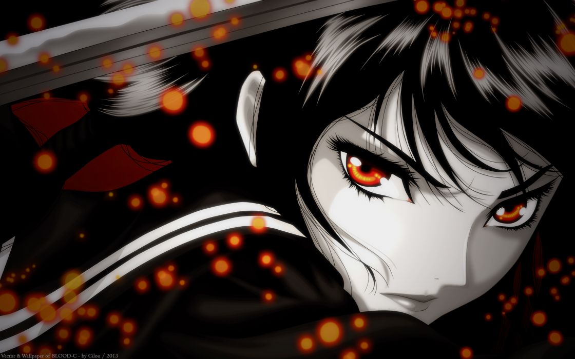 Blood-C Kisaragi Saya blood wallpaper