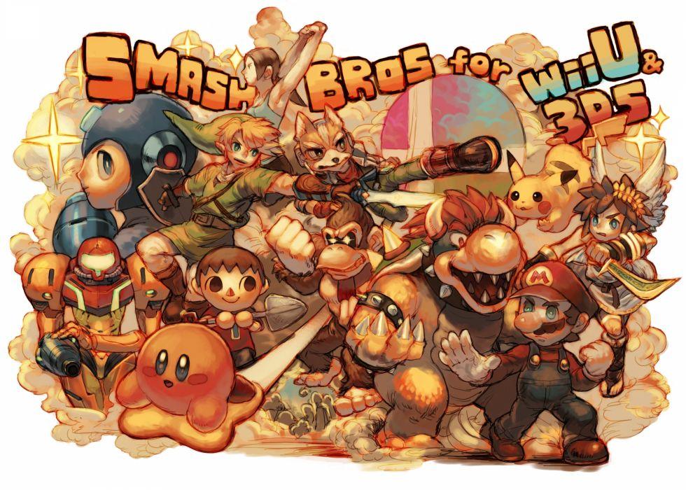 Nintendo Super Smash Bros mario collage wallpaper