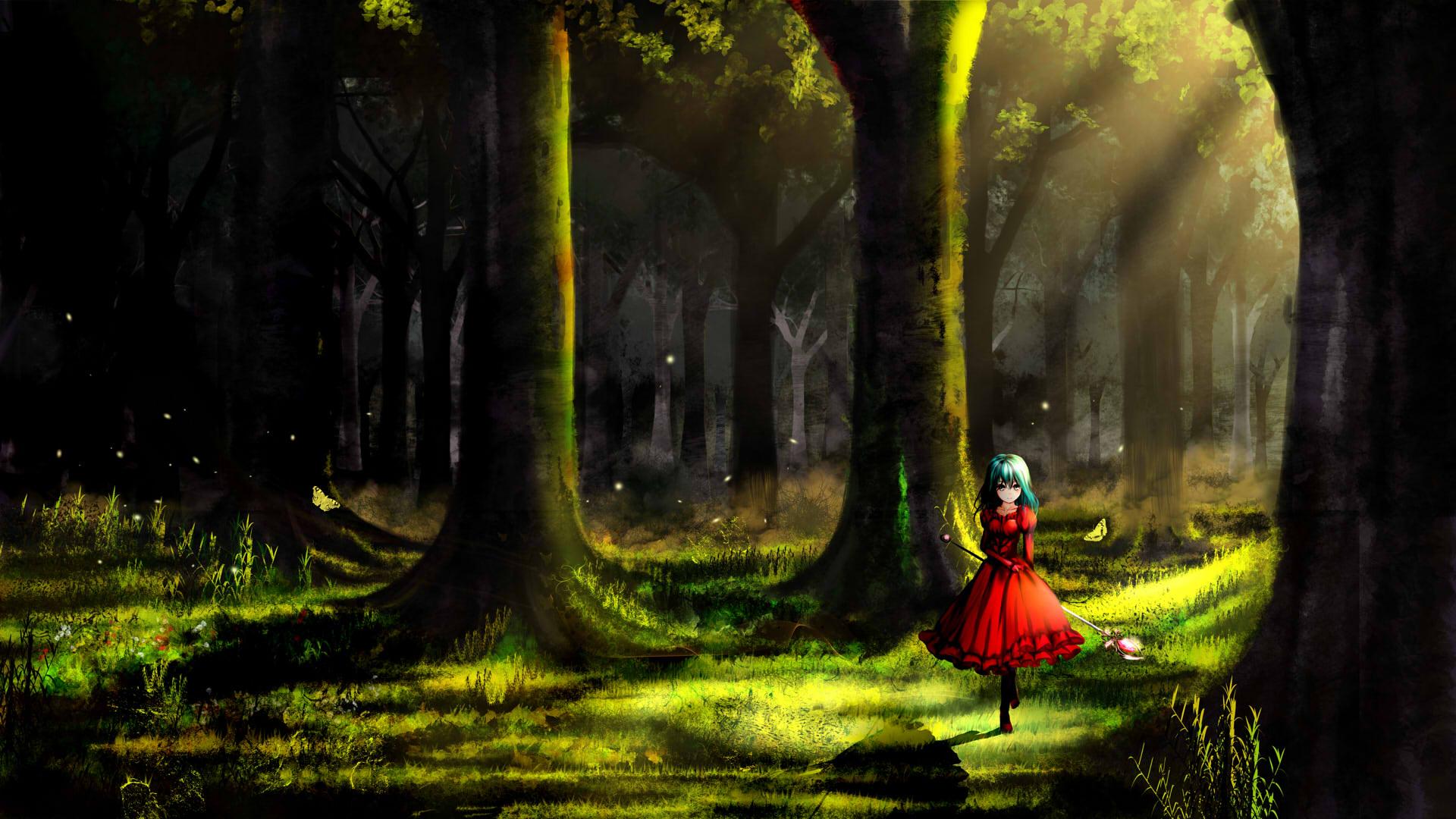 Фото в красном платье в лесу 16 фотография