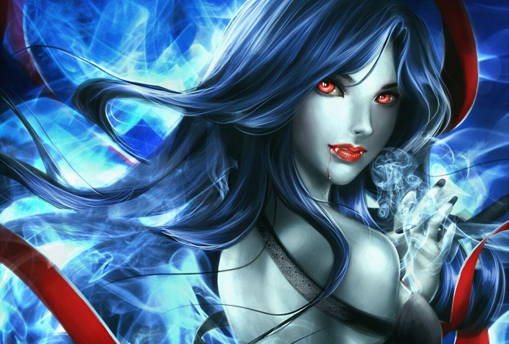 Vampires Hair Fantasy Girls vampire dark fantasy blood wallpaper