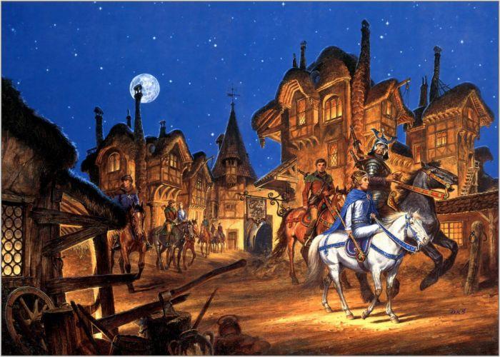 fantasy art book armor warrior warriors town wallpaper
