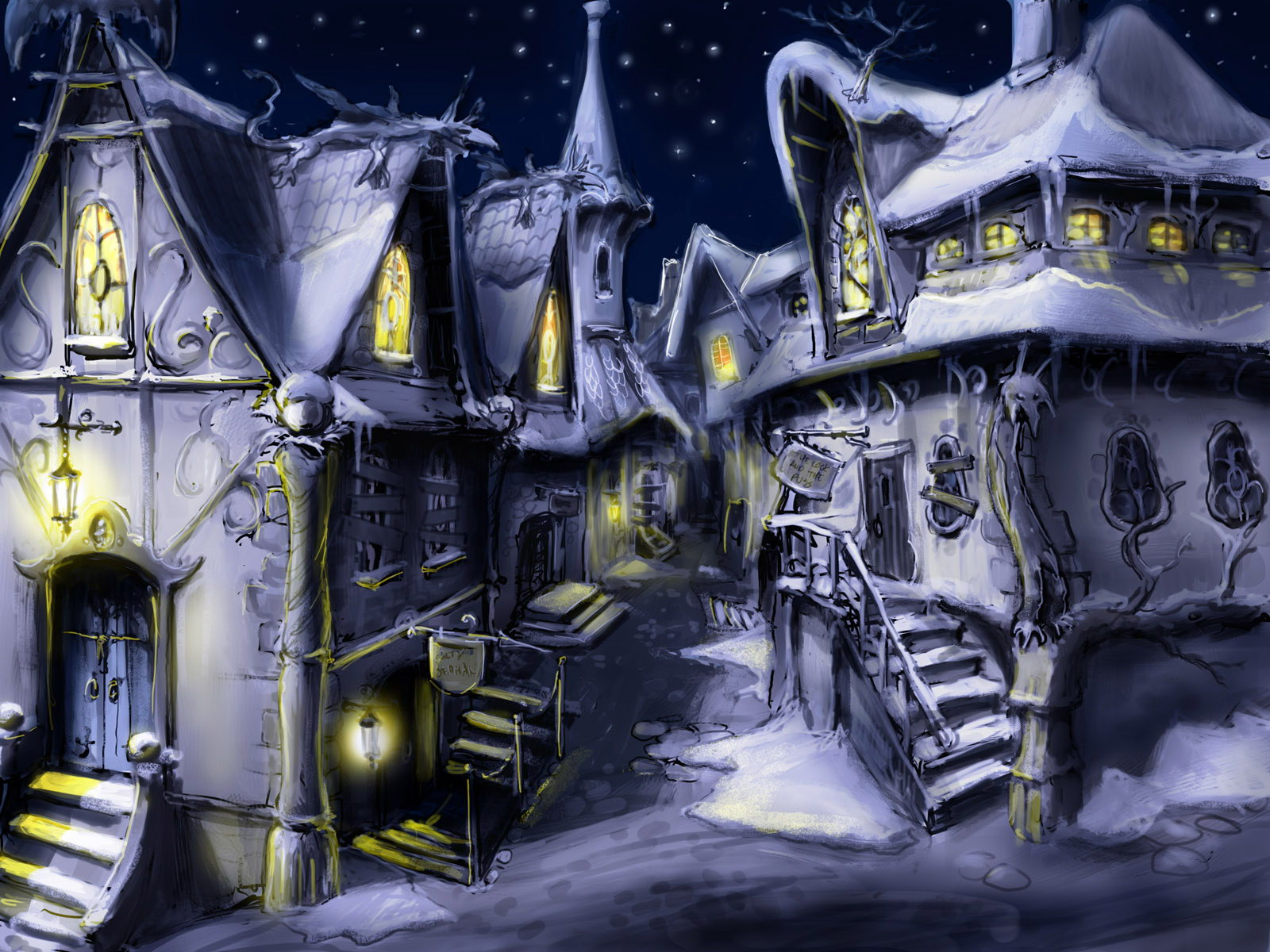 Painting fantasy house... Journey Game Wallpaper 1920x1080