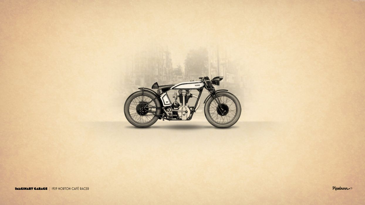 1929 Norton Cafe Racer Motorcycle wallpaper