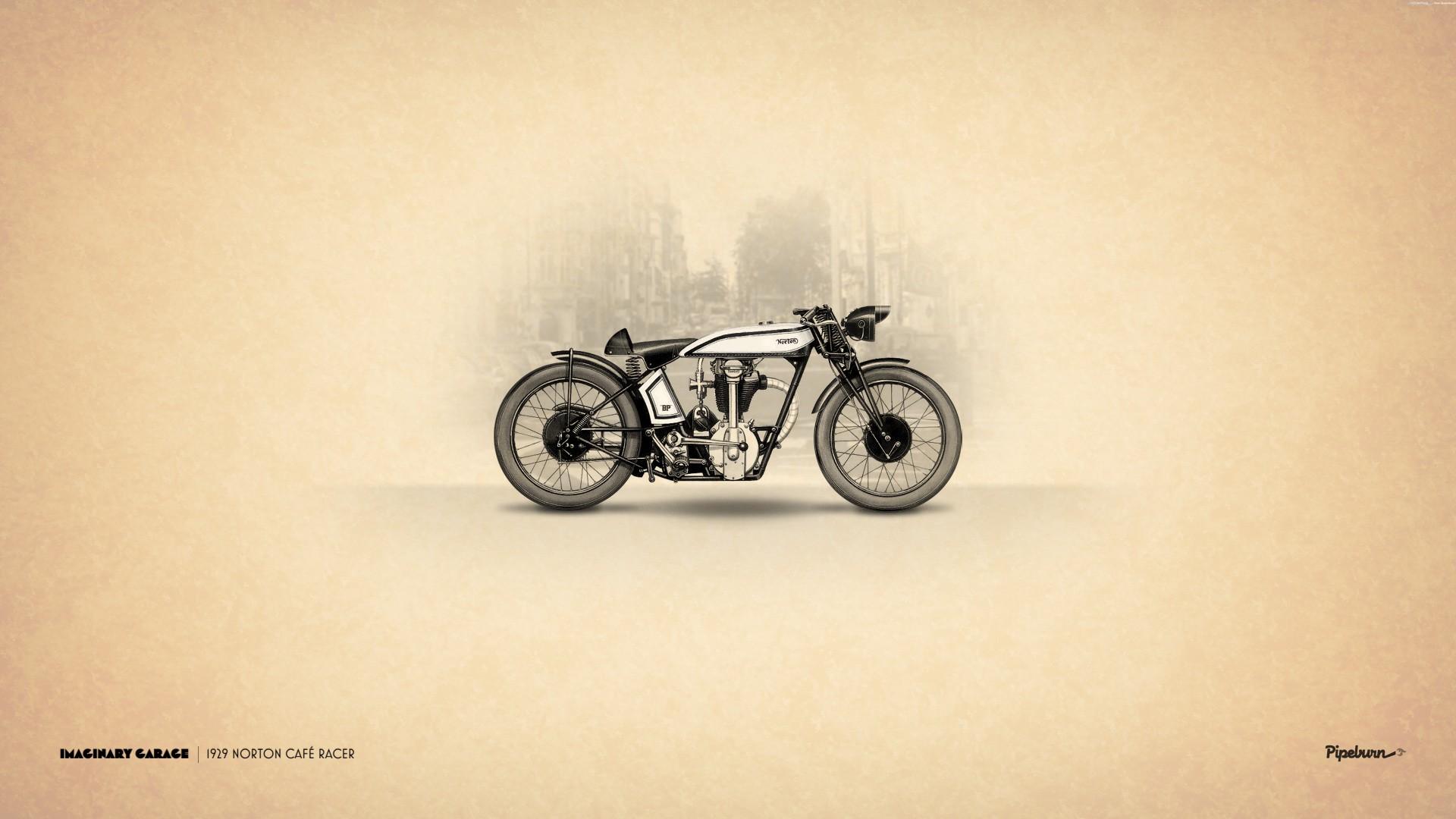 1929 norton cafe racer motorcycle wallpaper 1920x1080