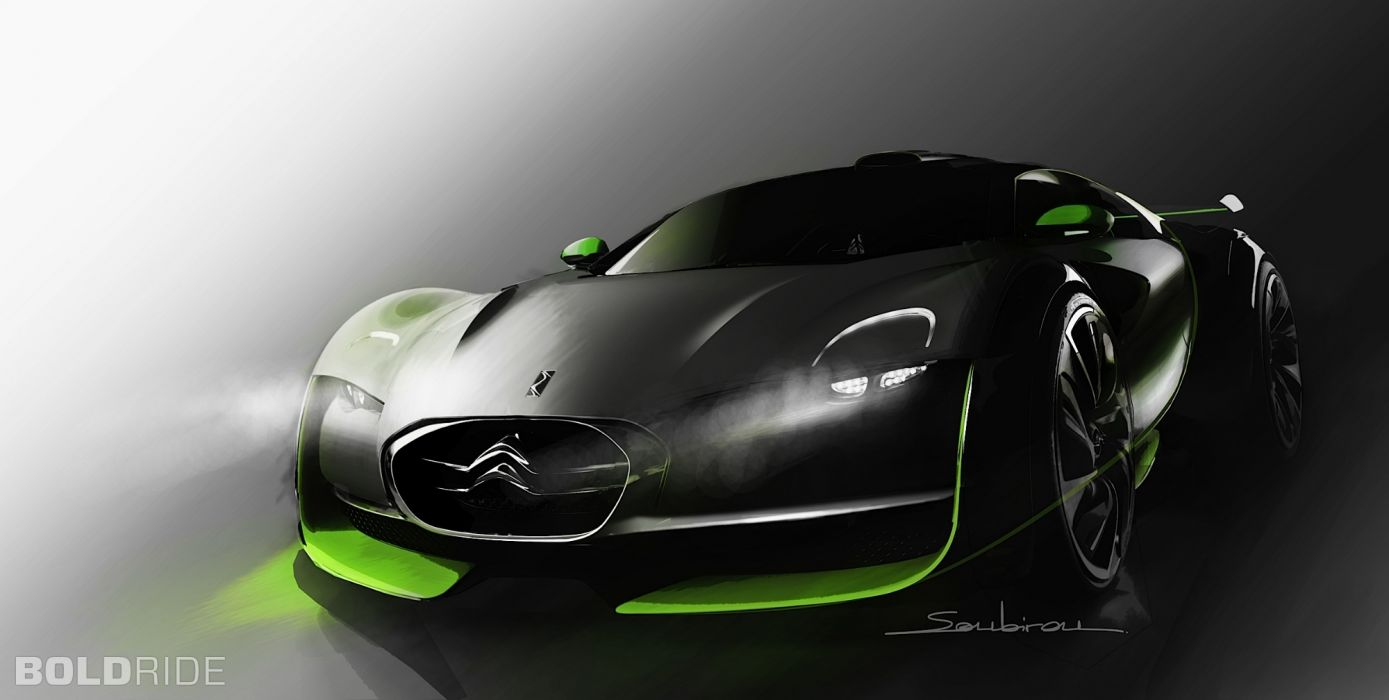2010 Citroen Survolt Concept supercar supercars     f wallpaper