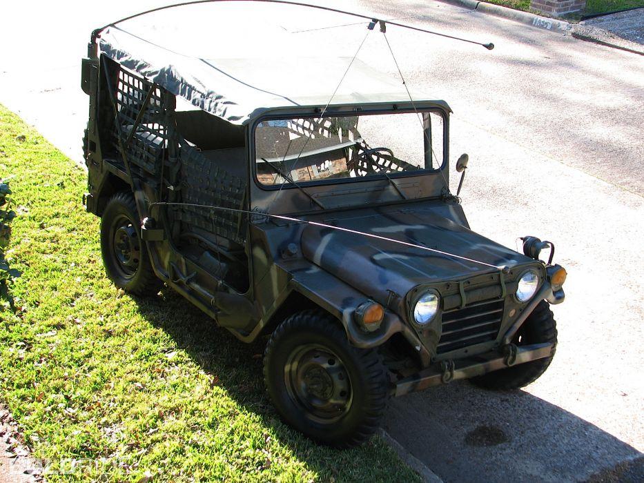 1970 Ford M151-A2 Mutt Military Jeep offroad 4x4    f wallpaper