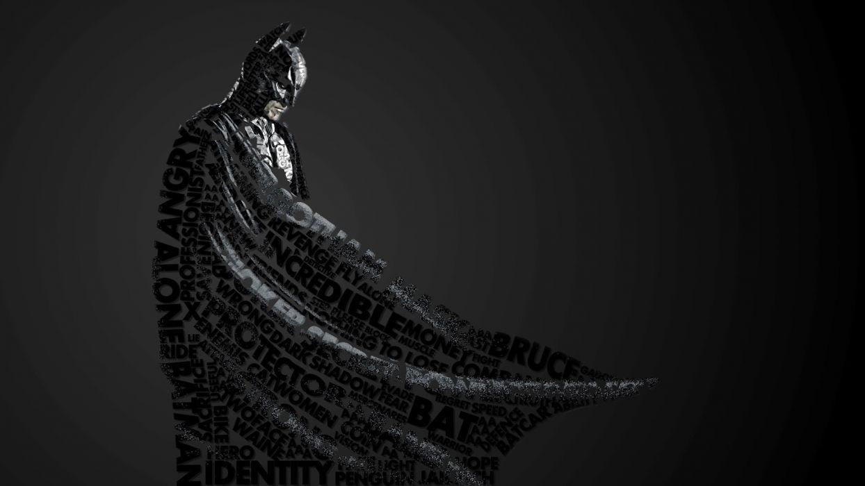 Batman Typography dark knight comics comic superhero wallpaper