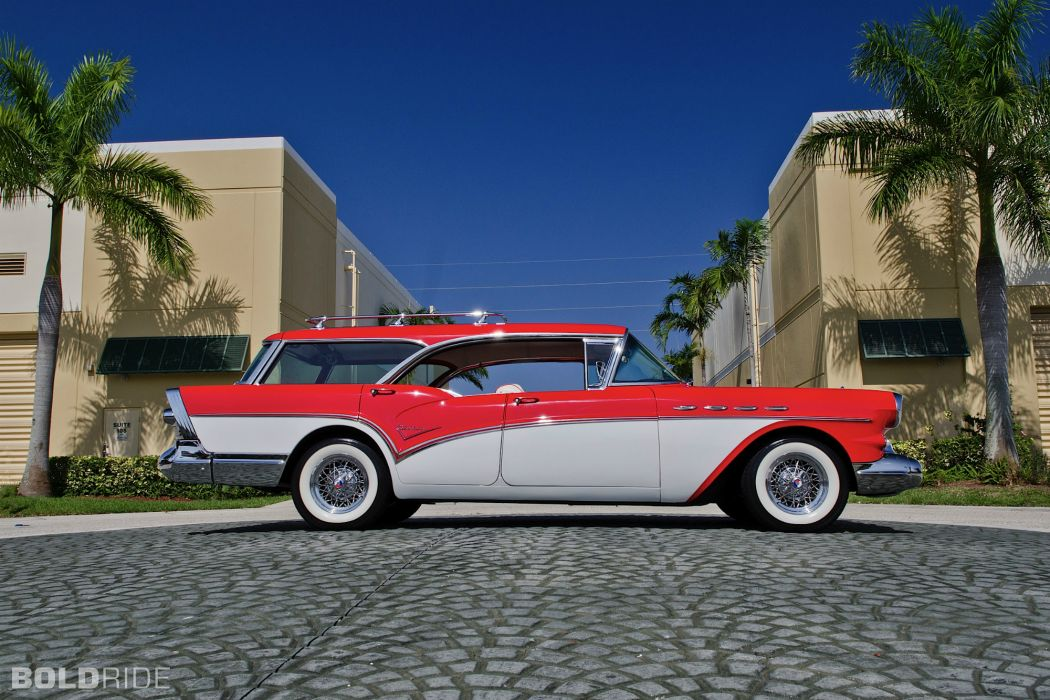 1957 Buick Caballero Wagon stationwagon retro     g wallpaper