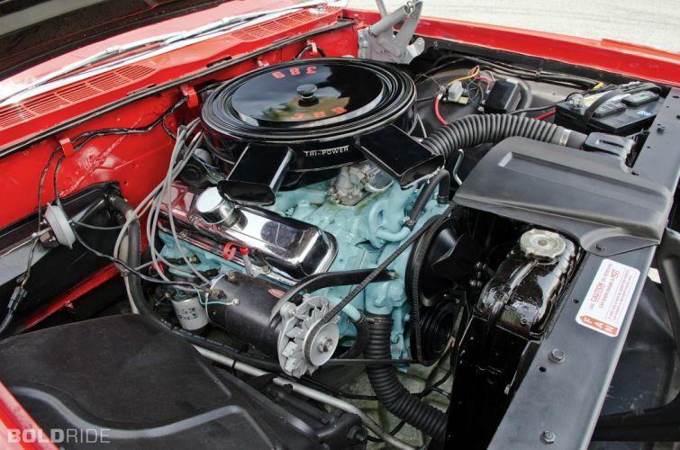 1959 Pontiac Catalina Convertible retro engine engines wallpaper