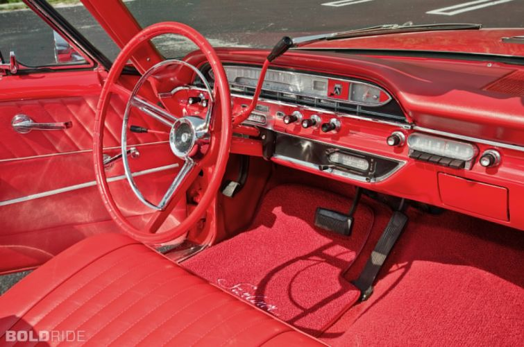 1961 Ford Galaxie Sunliner Convertible classic luxury interior o wallpaper