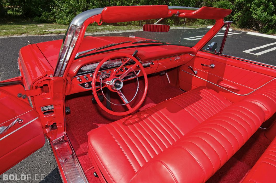 1961 Ford Galaxie Sunliner Convertible classic luxury interior     t wallpaper