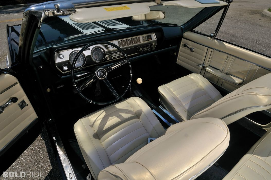 1967 Oldsmobile 442 Convertible classic muscle interior        f wallpaper