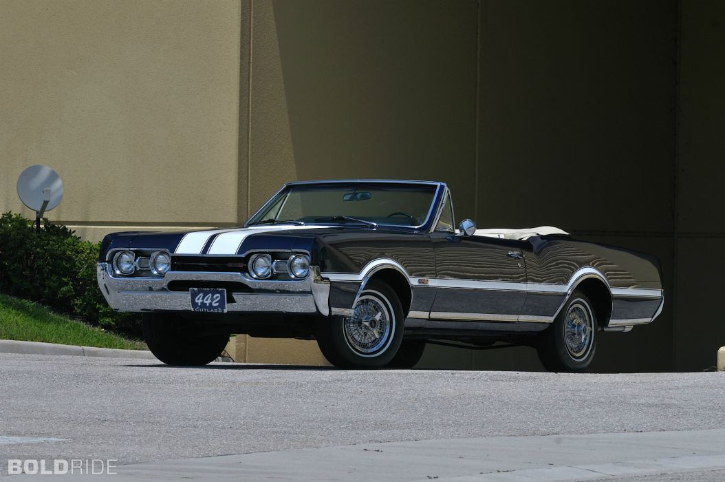 1967 Oldsmobile 442 Convertible classic muscle wallpaper