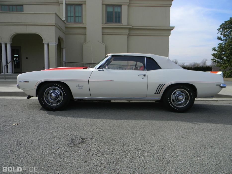 1969 Chevrolet Camaro Z11 Pace muscle classic convertible      f wallpaper