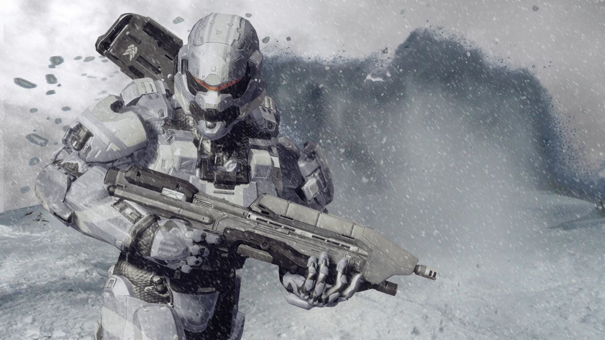 Halo Destiny warrior warriors weapon weapons mask helmet rifle sci-fi wallpaper