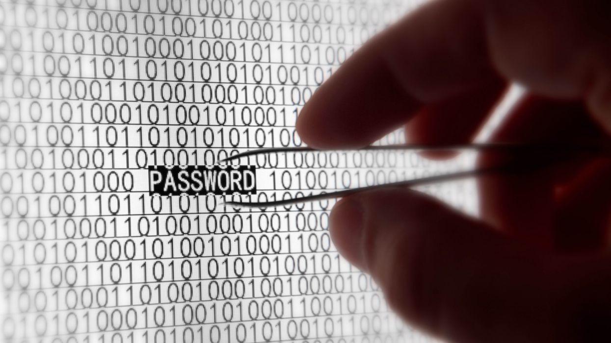Macro Binary Monitor Hand Hacker hacking dark computer evil data wallpaper