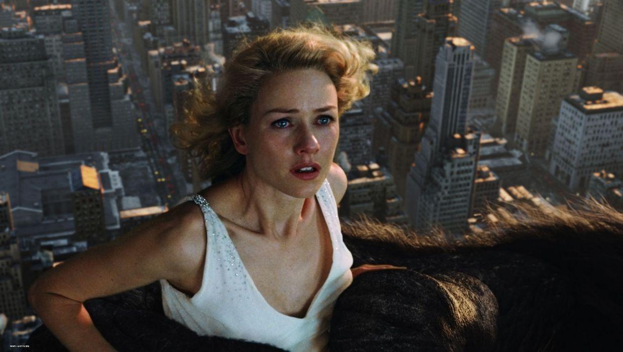 Naomi Watts Blonde king kong gorilla actress women city skyscraper wallpaper