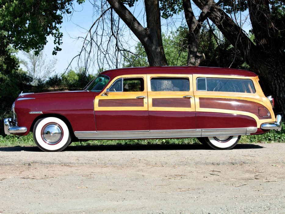 1948 Hudson Commodore StationWagon retro       f wallpaper