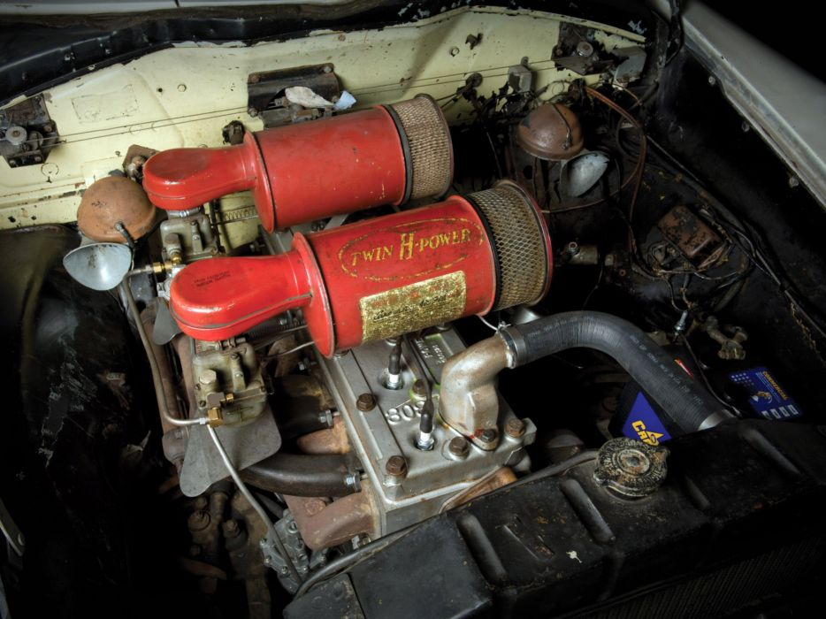 1950 Hudson Commodore Six Convertible retro engine engines wallpaper