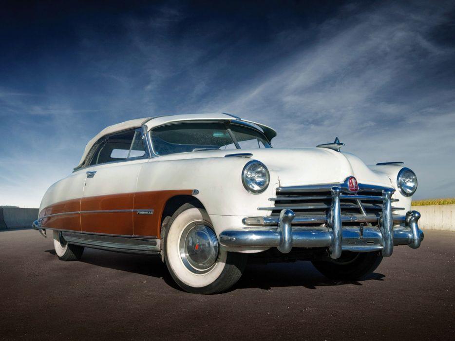 1950 Hudson Commodore Six Convertible retro wallpaper