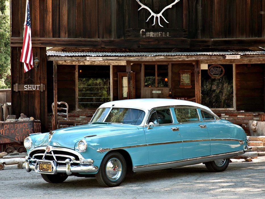 1952 Hudson Hornet Sedan retro wallpaper