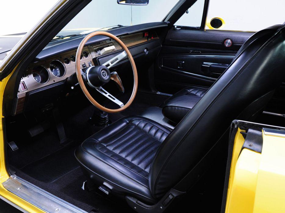 1970 Dodge Charger R-T 426 Hemi classic muscle mopar interior wallpaper