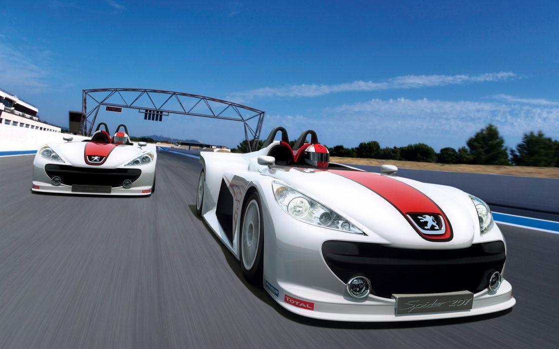 2006 Peugeot 207 Spider race racing     f wallpaper