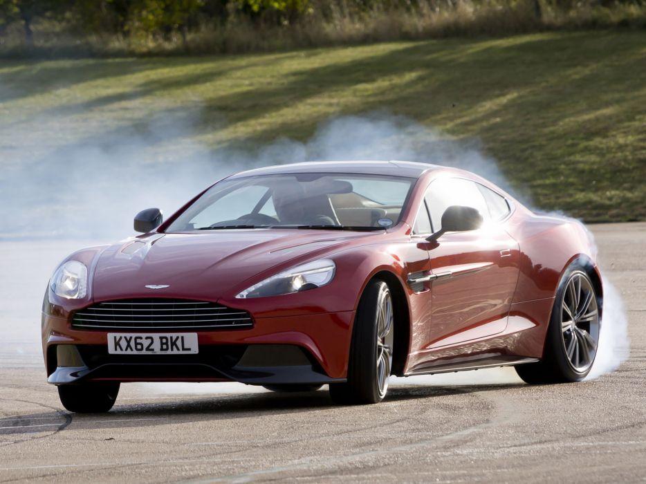 2012 Aston Martin Vanquish UK sportcar burnout smoke drift wallpaper