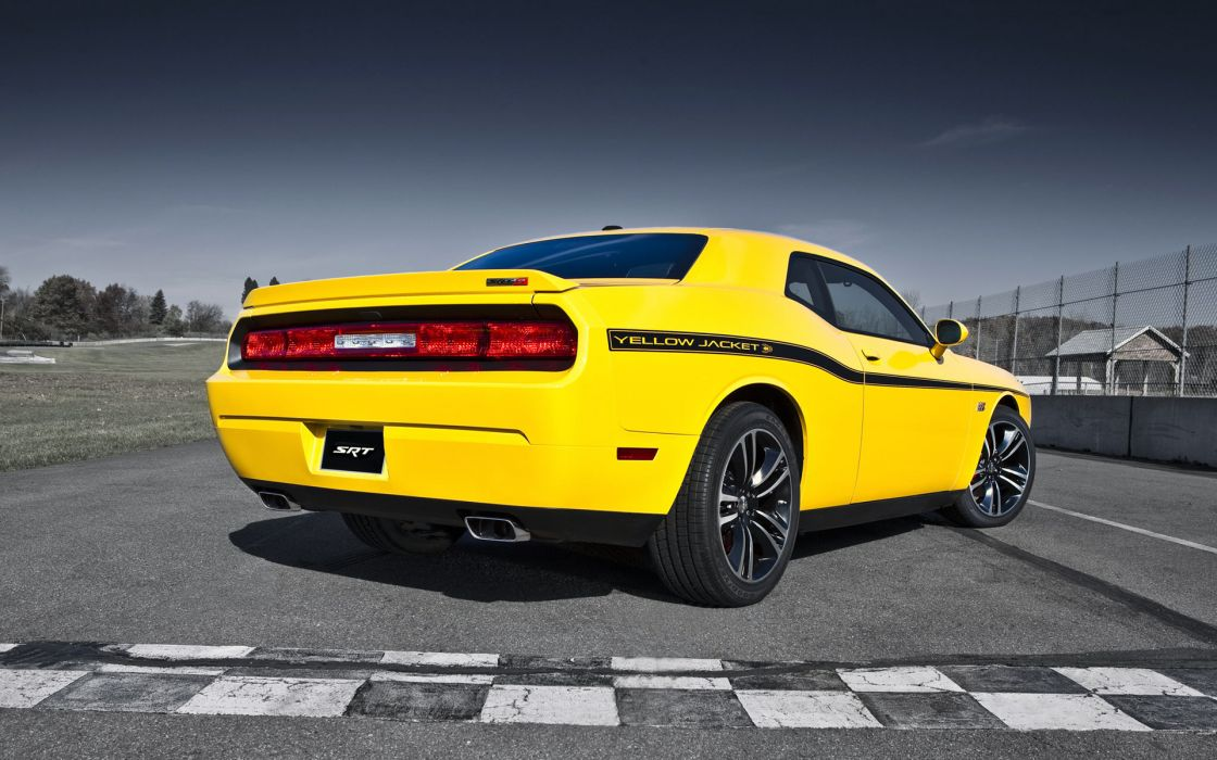 2012 Dodge Challenger SRT8 Yellow Jacket muscle      f wallpaper
