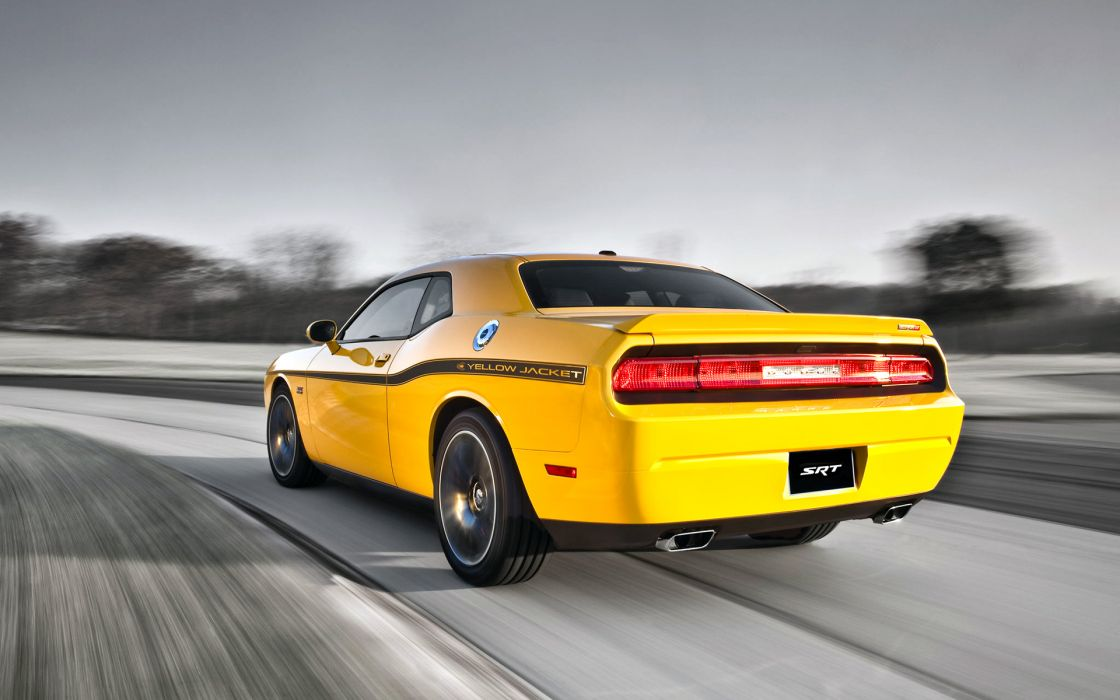 2012 Dodge Challenger SRT8 Yellow Jacket muscle   f wallpaper