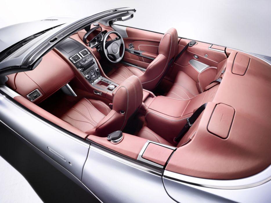 2013 Aston Martin DB9 Volante sportcar interior wallpaper