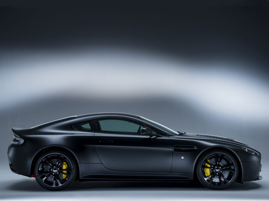 2013 Aston Martin V12 Vantage Carbon Black sportcar      f wallpaper