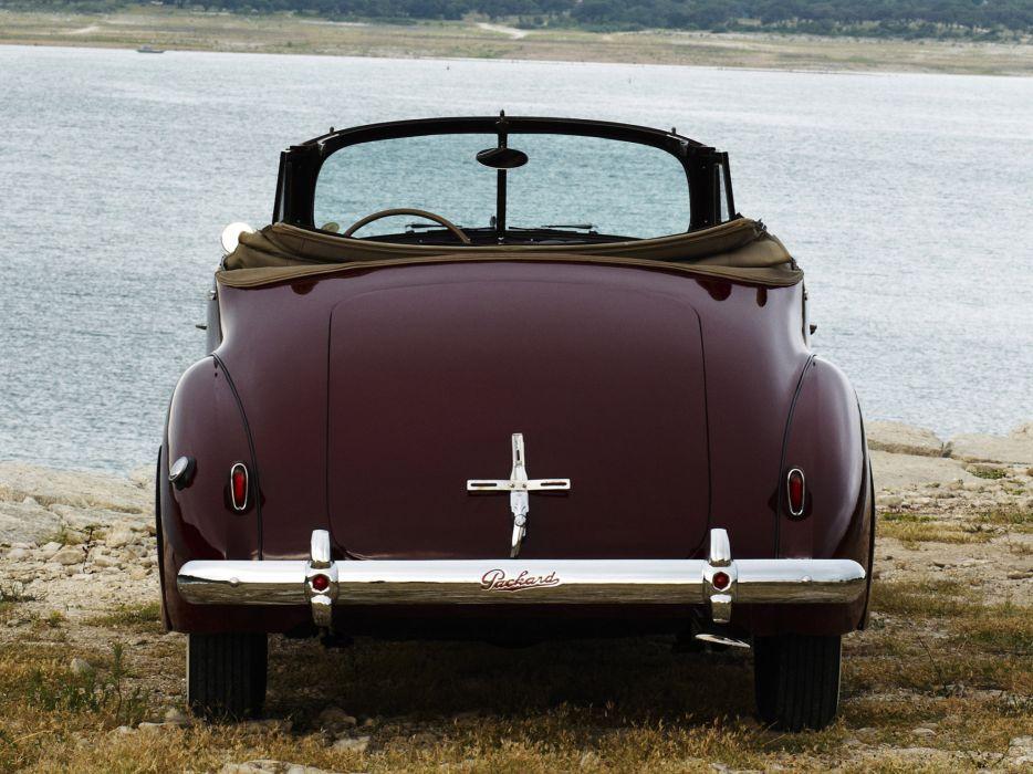 1940 Packard 120 Convertible Coupe retro   f wallpaper