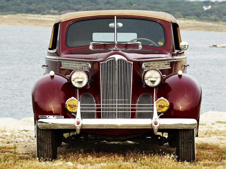 1940 Packard 120 Convertible Coupe retro   b wallpaper