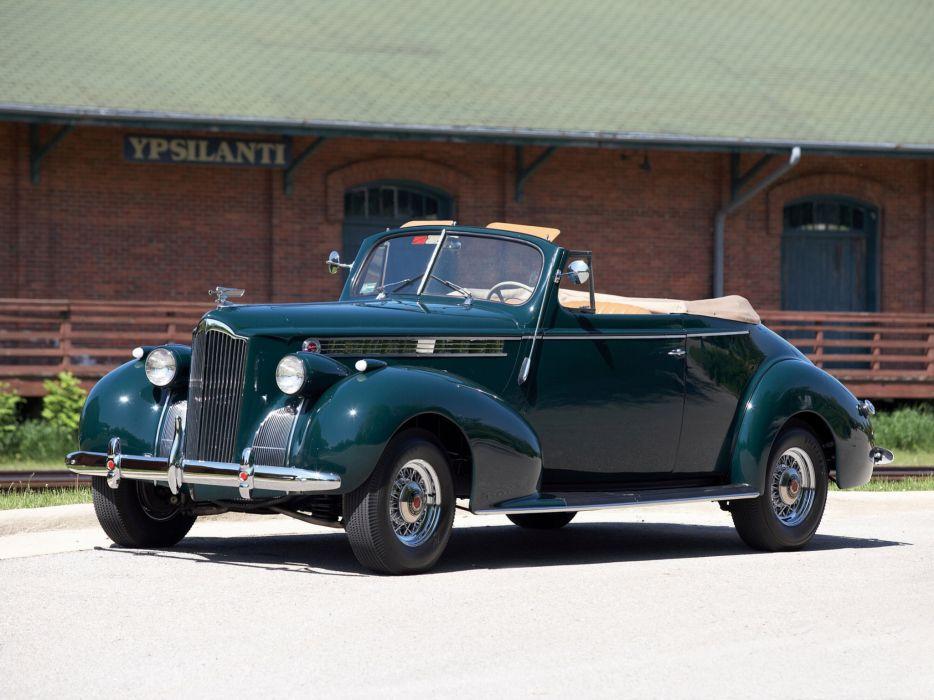 1940 Packard 120 Convertible Coupe retro d wallpaper