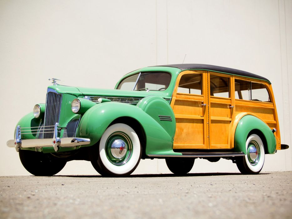 1940 Packard 120 StationWagon retro wallpaper