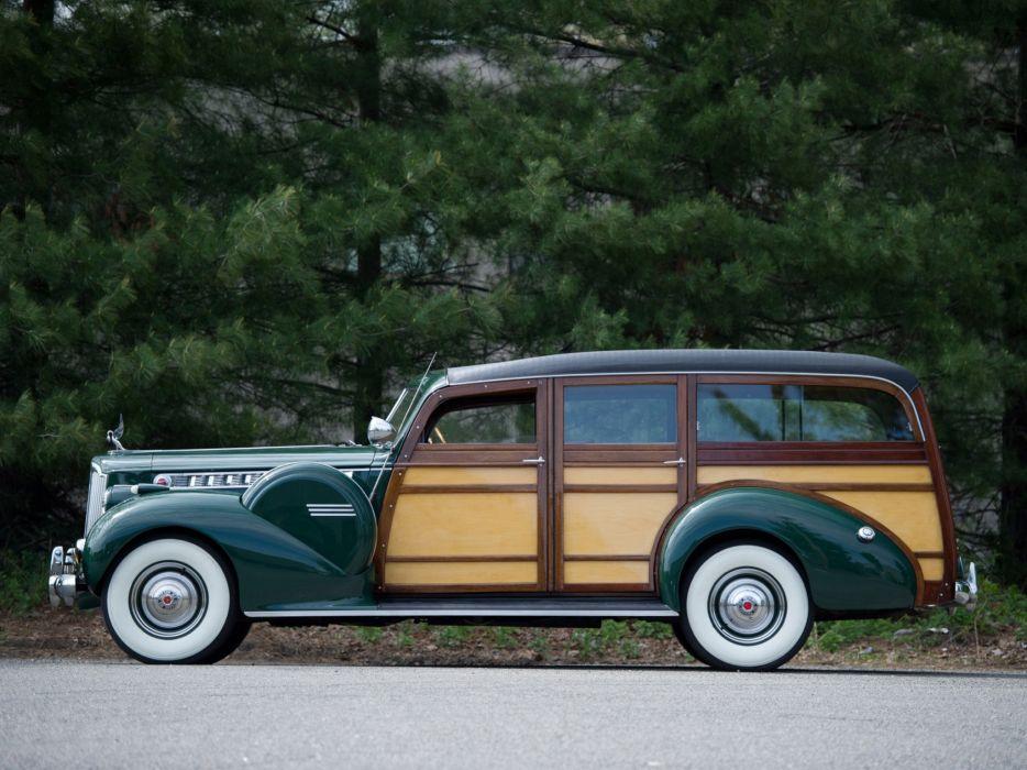 1940 Packard 160 Super Eight StationWagon retro q wallpaper