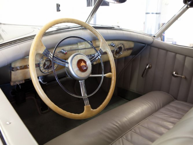 1940 Packard 180 Super Eight Convertible Sedan luxury retro interior wallpaper