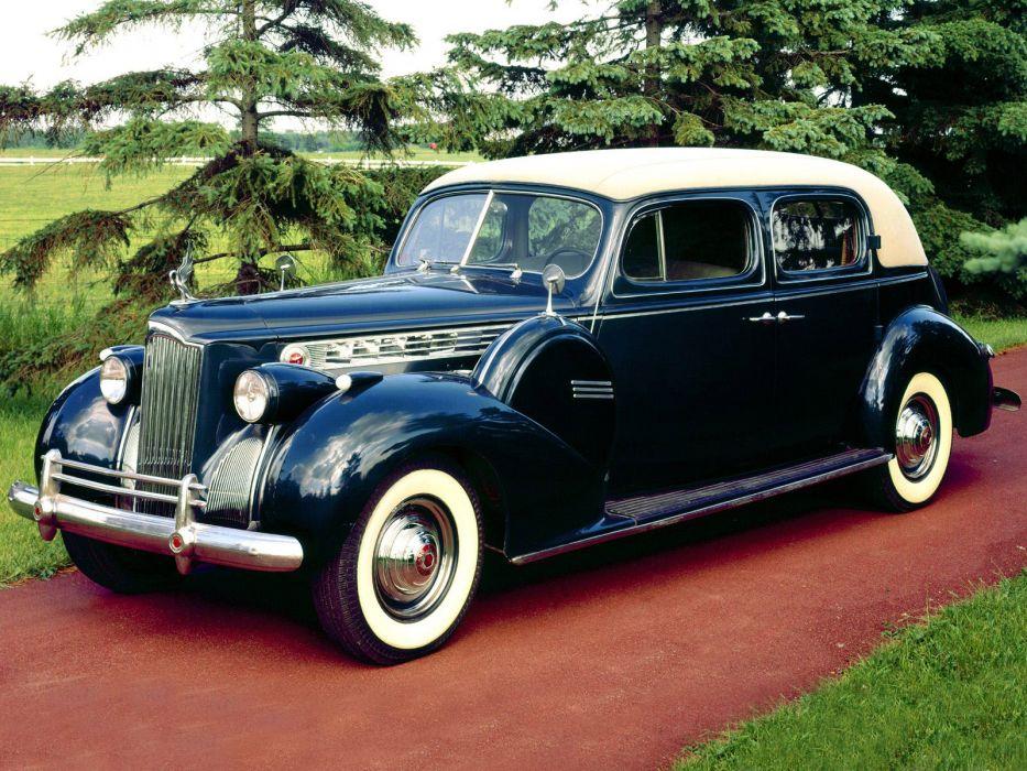 1940 Packard 180 Super Eight Custom Club Sedan retro luxury wallpaper