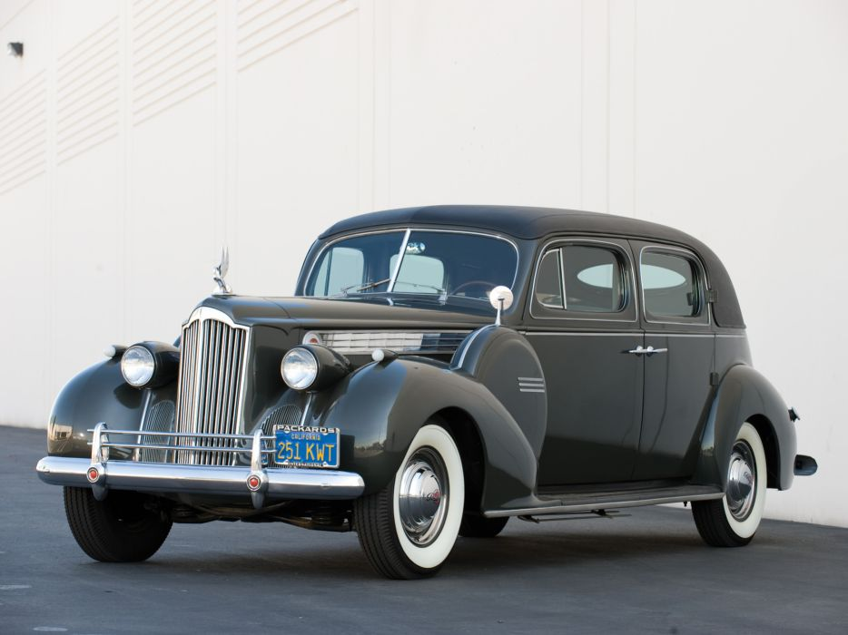 1940 Packard 180 Super Eight Custom Formal Sedan retro wallpaper