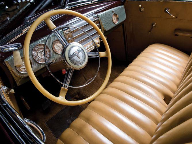 1941 Buick Super Convertible 56C retro interior wallpaper