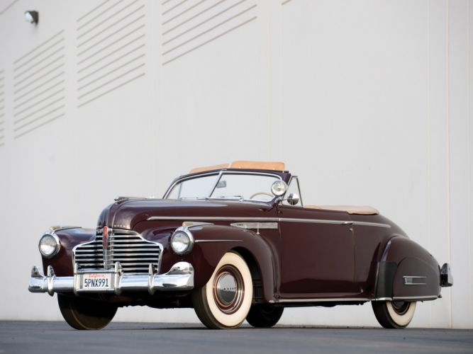 1941 Buick Super Convertible 56C retro wallpaper