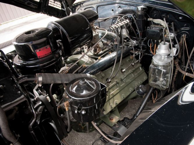 1941 Cadillac Sixty-Two Convertible retro luxury engine engines wallpaper