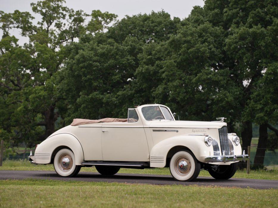 1941 Packard 110 Deluxe Convertible retro luxury wallpaper